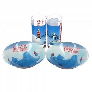 Детский набор Coca-Cola Polar Bear Luminarc, 4 предмета