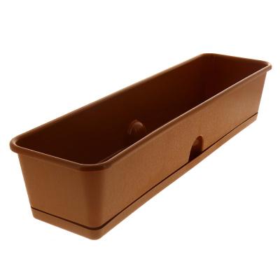 Ящик с поддоном для рассады и цветов 600*150*120 Оснащен отверстием для нижнего полива терракотовый C0505 пластик 000000000001182775 купить в Посуда Центр